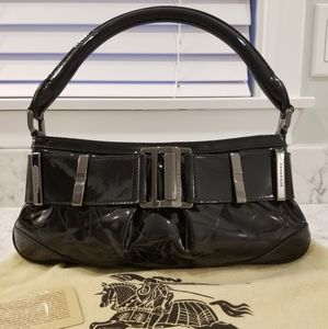 Burberry Quilted Patent Leather Purse: Black